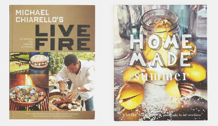 Home Made Summer and Live Fire Cookbooks