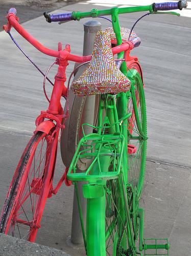 neon bike art