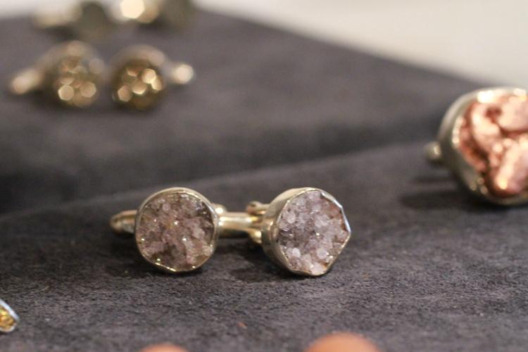 Men's crystal cufflinks