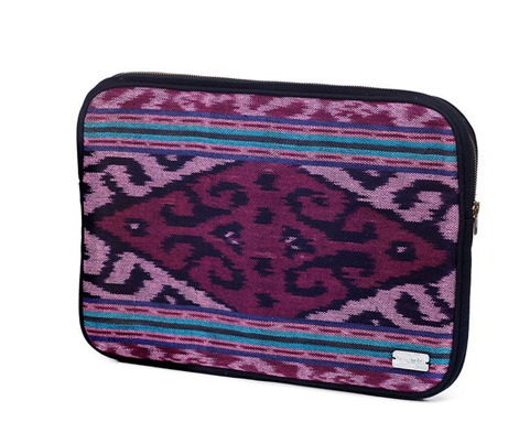Fair Trade Ikat laptop case