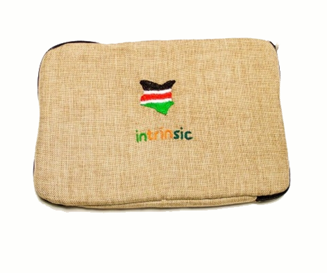 Burlap laptop sleeve