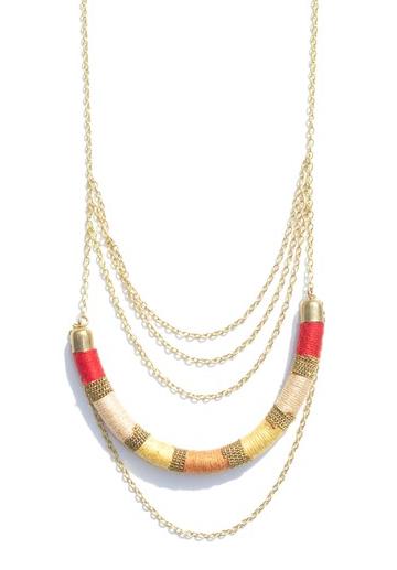 Indie Twenty Jewelry Liberated Lariat Necklace Orange