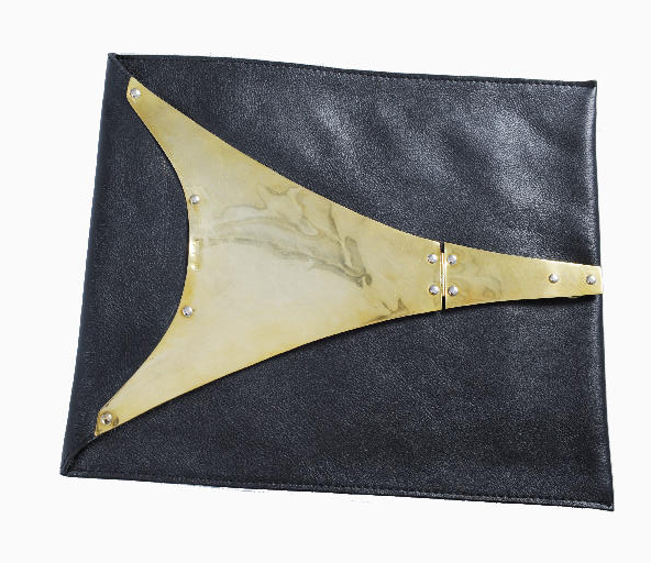 ipad case brass and leather