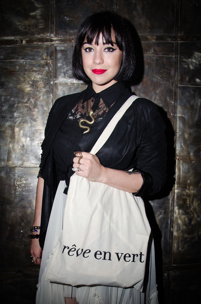 DJ Cry Baby with her swag bag