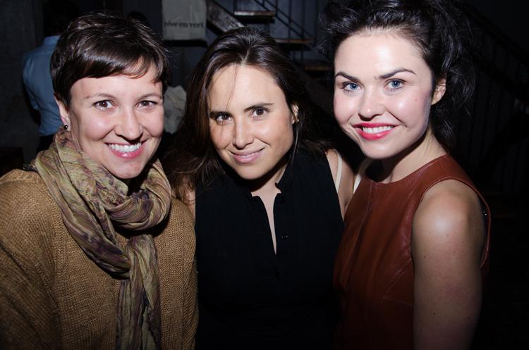 Designer Tara St. James, Francisca Pineda, and blogger Emma Grady