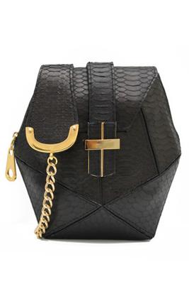 Angel Jackson Snakeskin Mini Box Purse, $394