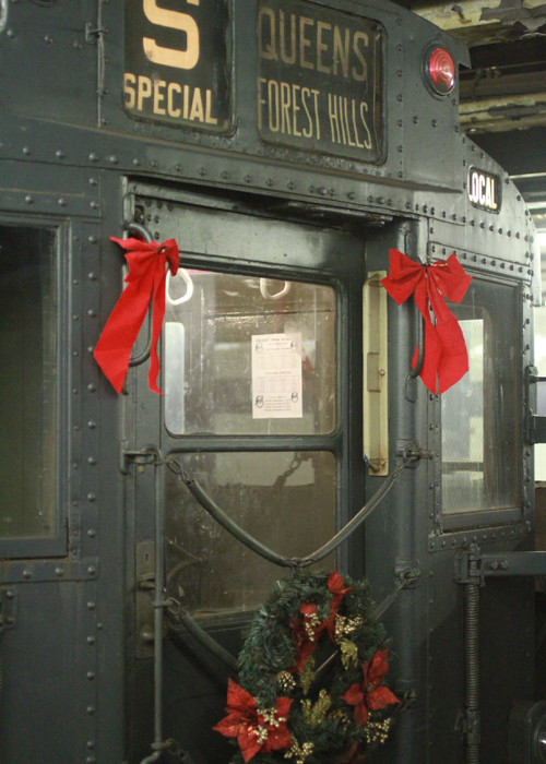 Christmas subway train