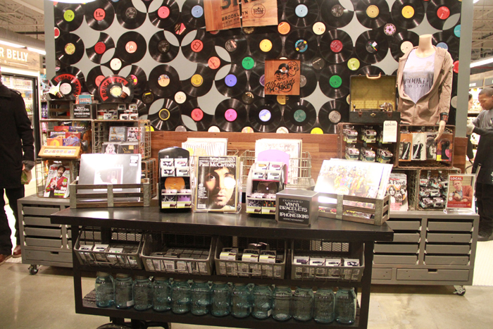 Vinyl section at Whole Foods in Brooklyn