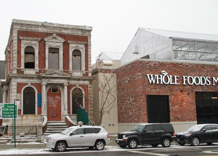 Whole Foods and the historic Coignet building in Brooklyn