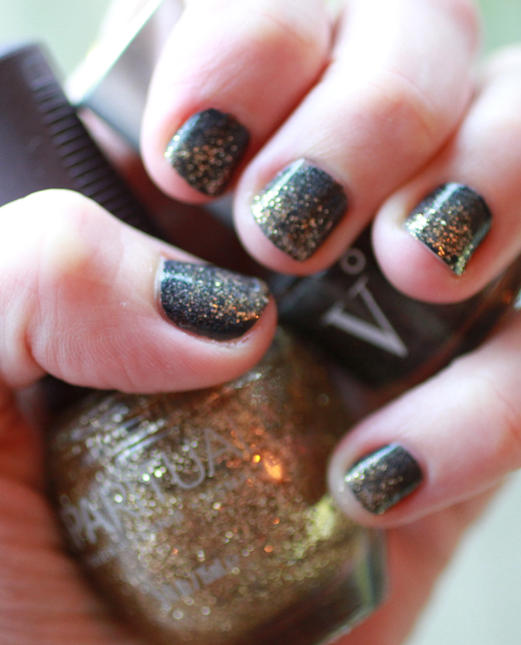 Non-toxic New Year's Eve Nails