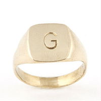 Initial Ring // Made in the USA, hand-stamped with initials,