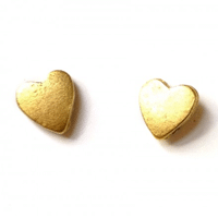 Heart Stud Earrings // Handmade in NYC using overstock materials from large jewelry manufacturers and secondhand sources