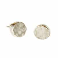 White druzy stone earrings //made by artisans in Brazil from druzy, a naturally-formed coating composed of the fine crystals that form on rock surfaces
