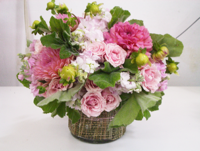 "Organic ""In the Pink"" bouquet from Gardenia Organic"