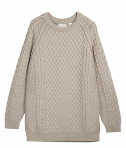 Chinti & Parker cable sweater // 100% cashmere // Carbon Neutral Company // Handfinished