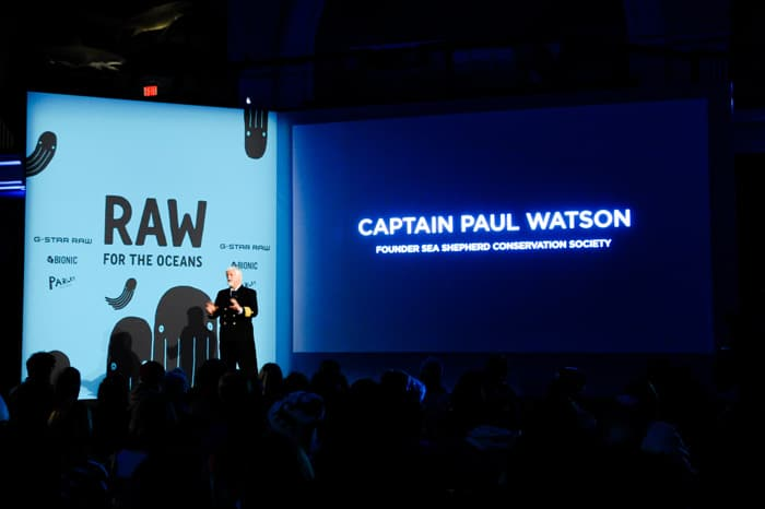 Captain Paul Watson from the Sea Shepherd made an impassioned speech.