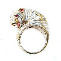 Pinky Panthers WhiteTiger ring // supports endangered wildlife