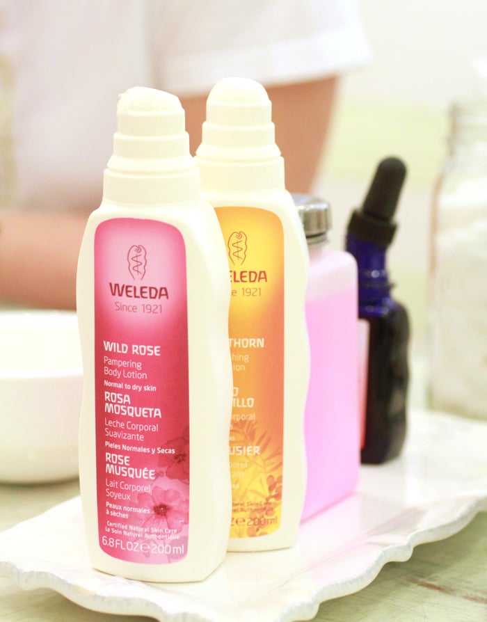Weleda Pampering Rose Body Lotion and Replenishing Sea Buckthorn Body Lotion