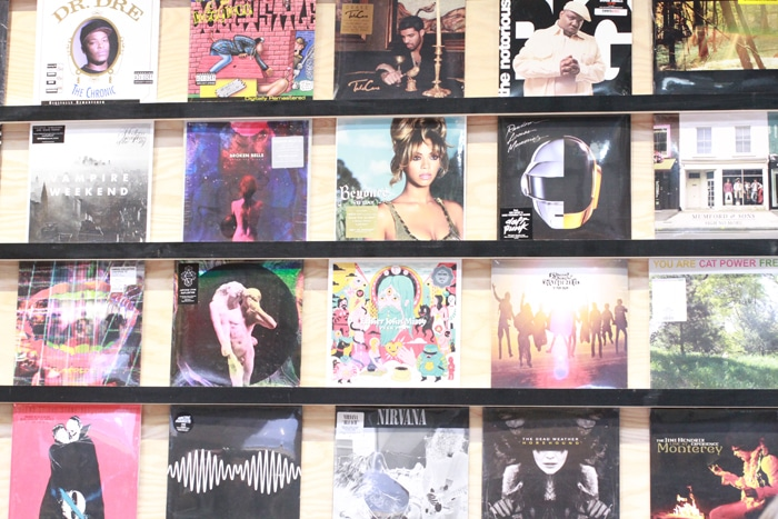 Records at Urban Outfitters in Williamsburg