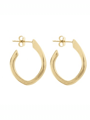 Tiffany Kunz hoop earrings // hand cast out of reclaimed bronze