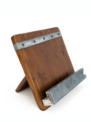iPad and cookbook holder // made with with 19th century reclaimed wood