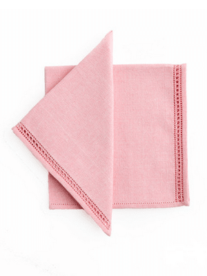 Pink cotton napkins // ethically made by female artisans in Sri Lanka
