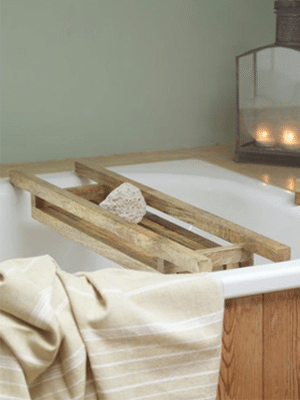 Wood bath rack // made from sustainable mango wood