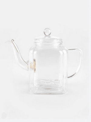 Double-walled glass teapot // handblown, 20% recycled glass