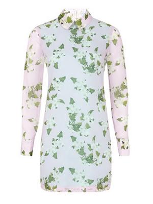 Floral, long-sleeved dress // Beautiful Soul London