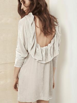 Velvet dress in ivory // Datura