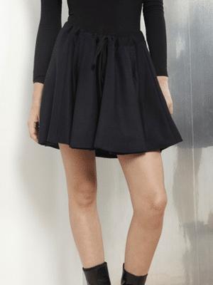 Midnight blue wool skirt // Datura