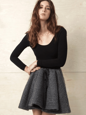 Gorgeous wool mohair skirt in grey // Datura