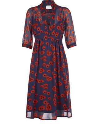 Floral silk quarter-length sleeve dress // Beautiful Soul London