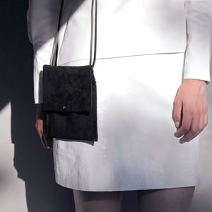 Mini black leather pouch // vegetable tanned // made in England // Alfie Douglas