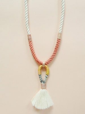 Gamma Folk tassel necklace // made from natural materials in NYC