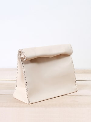 Love Dart cafeteria clutch // handmade with vegetable tanned leather