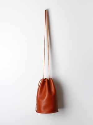 Love Dart drawstring bag // handmade with vegetable tanned leather