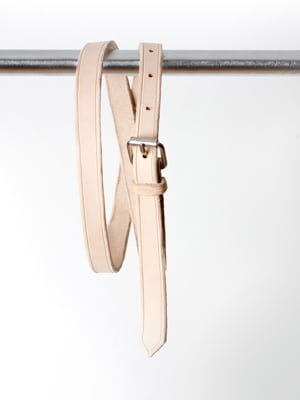 Love Dart waist belt // handmade with vegetable-tanned leather
