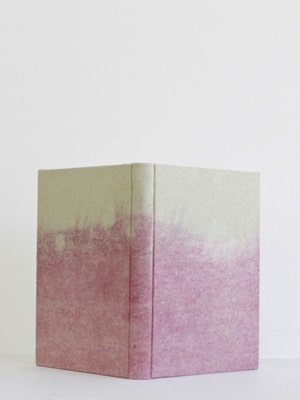 Pink ombre journal // hand bound and naturally dyed