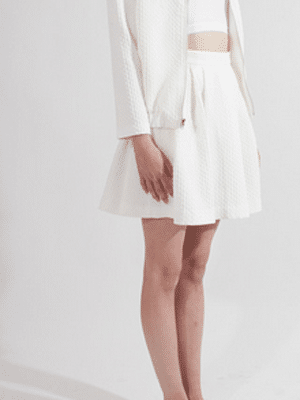 Ann Yee white skirt // Young and Able