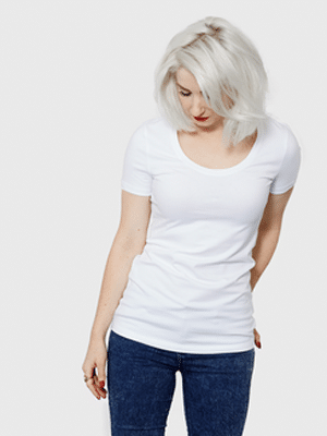 Basic organic white t-shirt