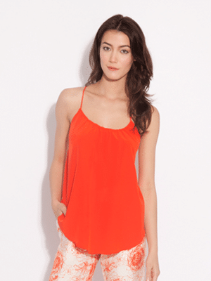 Amour Vert orange tank top // silk