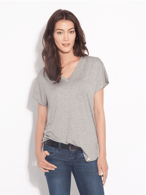 Amour Vert heather grey t-shirt // modal