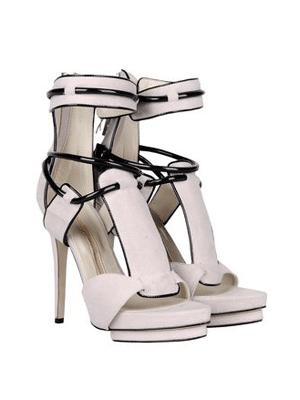Ivana Basilotta white heels