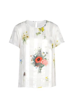 Svilu 100% silk flowered shirt