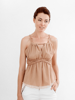 Bonheur Crepe Chiffon Nymph Top // fair trade // A Boy Named Sue