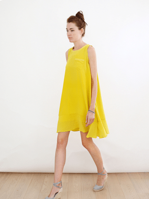 Svilu Yellow Trapeze dress