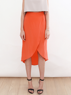 Isabell de Hillerin orange petal skirt // A Boy Named Sue