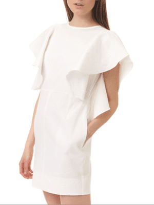 Apiece Apart white ruffle dress
