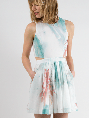 Morgan Carper watercolor dress // 100% cotton // made in NYC